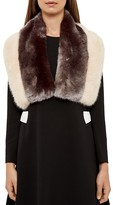 Ted Baker Wyn Two-Tone Faux Fur Scarf
