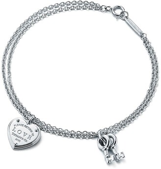 Tiffany & Co. Return to TiffanyTM Love Heart Tag Key Bracelet in Silver