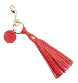 Royce Leather Royce New York Leather Tassel Key Fob with Gold Hardware