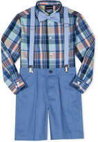 Nautica 4-Pc. Madras Plaid Shirt, Shorts, Suspenders & Bowtie Set, Little Boys