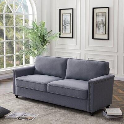 """Thumbnail for your product : Alcott Hill Shibata 75.6"""" Square Arm Sofa"""
