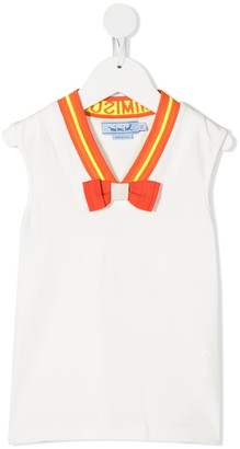 Mi Mi Sol V-neck bow tank top