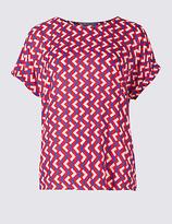 M&S Collection Geometric Print Short Sleeve T-Shirt