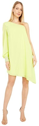 ONE33 SOCIAL One Shoulder Chic Beaded Cuff Cocktail Dress (Lime) Women's Dress