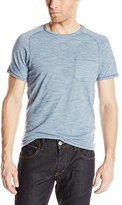 John Varvatos Men's Crew Neck Finestripe T-Shirt