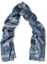 Stella McCartney Fringed Printed Silk And Modal-Blend Scarf