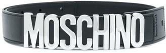 Moschino Logo Plaque Belt