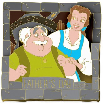 Disney Belle and Maurice Pin Beauty and the Beast Father's Day 2020 Limited Edition