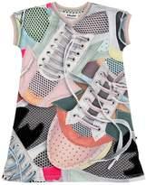 Molo Sneakers Print Interlock Cotton Dress