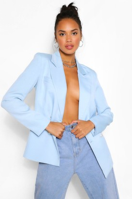 boohoo Pearl Button Asymmetric Blazer