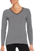 Lord & Taylor Striped Long Sleeve Tee