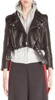 Vetements Crop Leather Biker Jacket