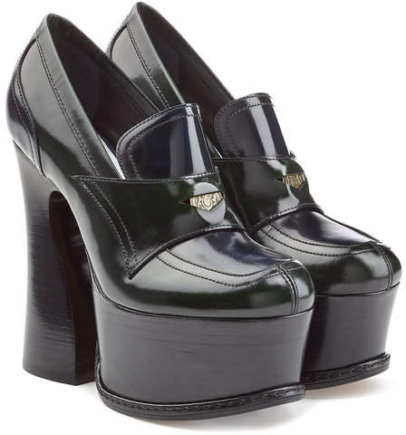 Maison Margiela Leather Platform Loafers