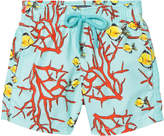 Vilebrequin Blue Coral and Fish Sea Print Trunks