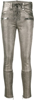 Manokhi Metallic Multi-Pocket Trousers