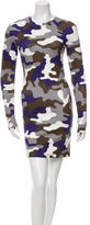 Christopher Kane Camouflage Bodycon Dress w/ Tags