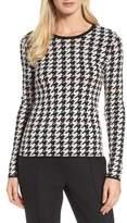BOSS Women's Fatma Houndstooth Sweater