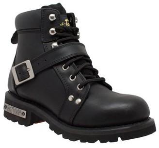 "Ride Tecs Women's 6"" Lace Zipper Boot Black"