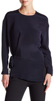 Derek Lam Long Sleeve Silk Side Tie Blouse