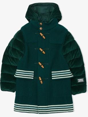 BURBERRY KIDS Stripe Patterned Padded Coat