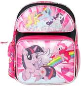 My Little Pony Small Backpack Black w/5 Ponies on the Front New 109435