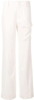 Chloé Cargo Pocket Wide-Leg Trousers