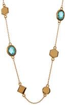Melinda Maria Levi Mini Mixed Stone Topaz Station Necklace