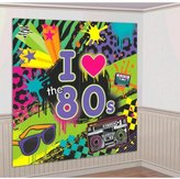 Camilla And Marc Amscan 1.65 x 82.5 cm Totally 80s Scene Setters Wall Decorating Kit