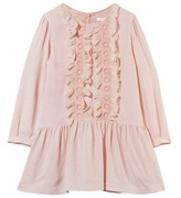 Chloé Pale Pink Wool Dress with Silk Ruffles