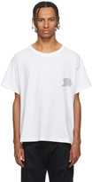 Alexander Wang White Warped Logo T-Shirt
