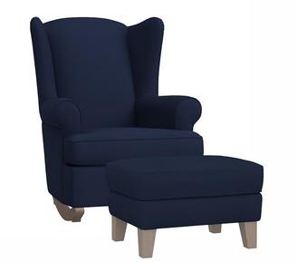 Pottery Barn Kids Wingback Convertible Rocking Chair & Ottoman
