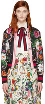 Gucci Black Flora Snake Bomber Jacket