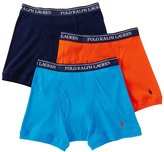 Polo Ralph Lauren Classic Cotton Knit Boxer Brief 3-Pack, L, Duck Blue Multi