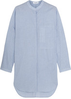 Equipment Elsie Striped Cotton Tunic - Blue