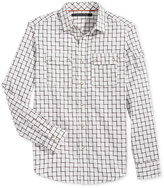 Sean John Men's Big & Tall Ladder Dobby Long-Sleeve Shirt