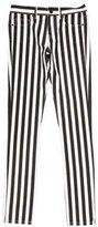 Saint Laurent Mid-Rise Striped Jeans