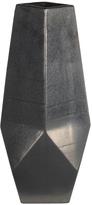 Privilege Silver Faceted Ceramic Vase