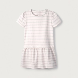 The White Company Sparkle Stripe Jersey Dress (1-6yrs), Pink, 2-3yrs