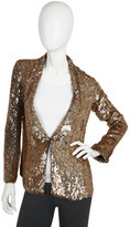 Sequin Blazer in Gold