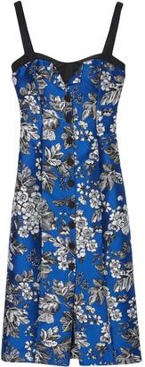 Carolina Herrera Floral-Print Mid-Length Dress