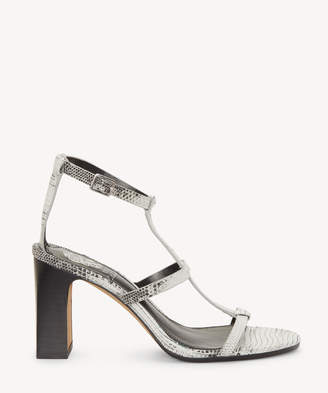 Vince Camuto Women's Balindah Heeled Sandals Black/white Size 5 Leather From Sole Society