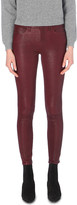Frame Jeanne skinny high-rise leather jeans