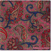 Turnbull & Asser Large paisley silk pocket square