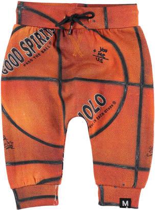 Molo Solom Basketball Print Sweatpants, Size 6-24 Months