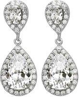 Cleo Bridal Cleo Wedding Jewelry Crystal Rhodium Zircon Dangle Earrings Bridesmaid Gift Pear Shaped Bridal Earrings (- EAR-0023)