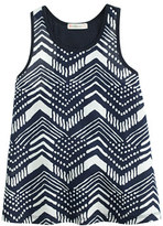 J.Crew Girls' mixed tank top in ikat