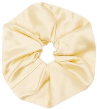 Sophie Buhai Elegant Silk-satin Hair Scrunchie - Womens - Yellow