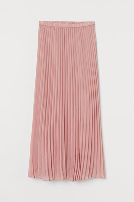 H&M Pleated Maxi Skirt - Pink