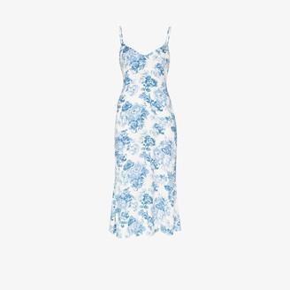 Reformation Chianti floral print slip dress
