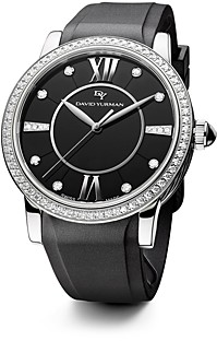 David Yurman Rubber Classic Swiss Quartz Watch, 38mm